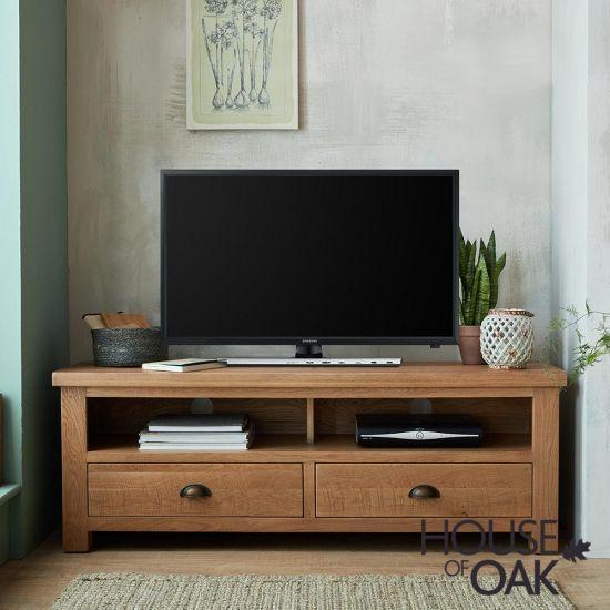Windermere Rough Sawn Oak Large TV Unit