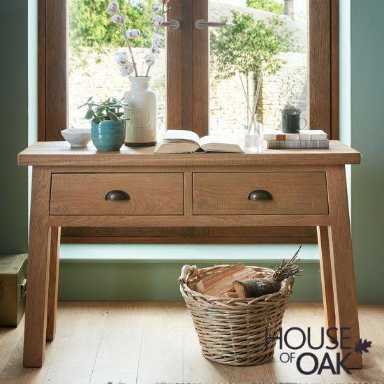 Windermere Sawn Oak Console Table