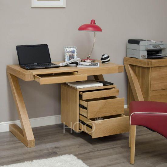Z Oak Small Computer Desk