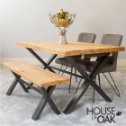 Harmony Oak - 190cm Dining Table