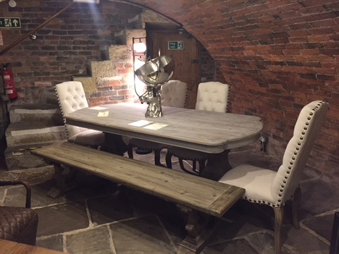 Acepello Bench, Table & Chair Set Oozing Rustic Tones & Character