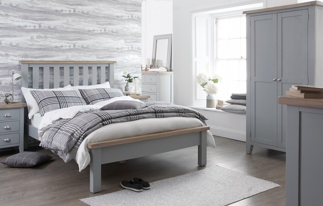 Florence Oak In Painted Grey White Bedroom Range Now Available