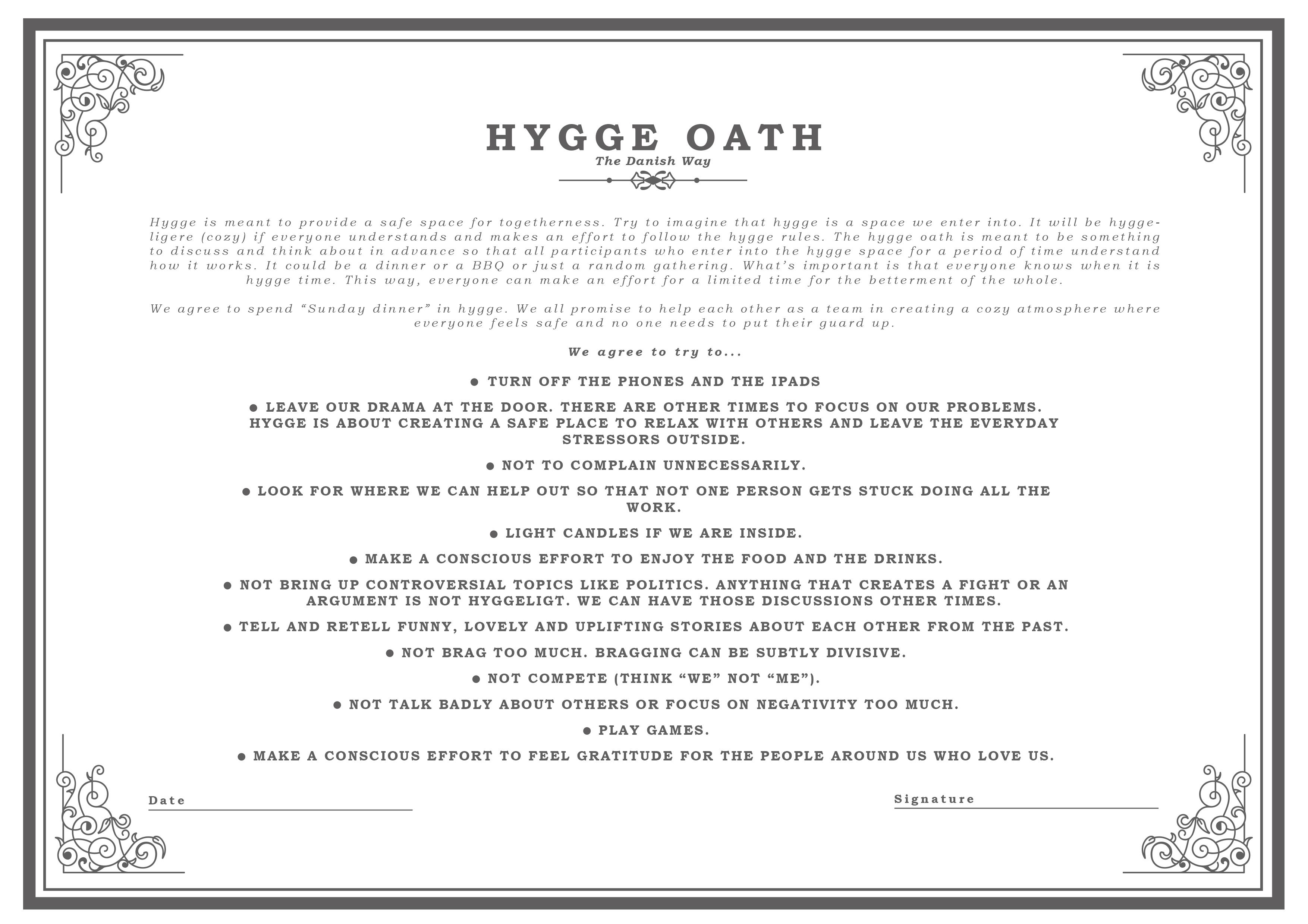 Hygge Oath