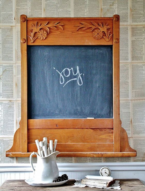 Oak Chalk Board