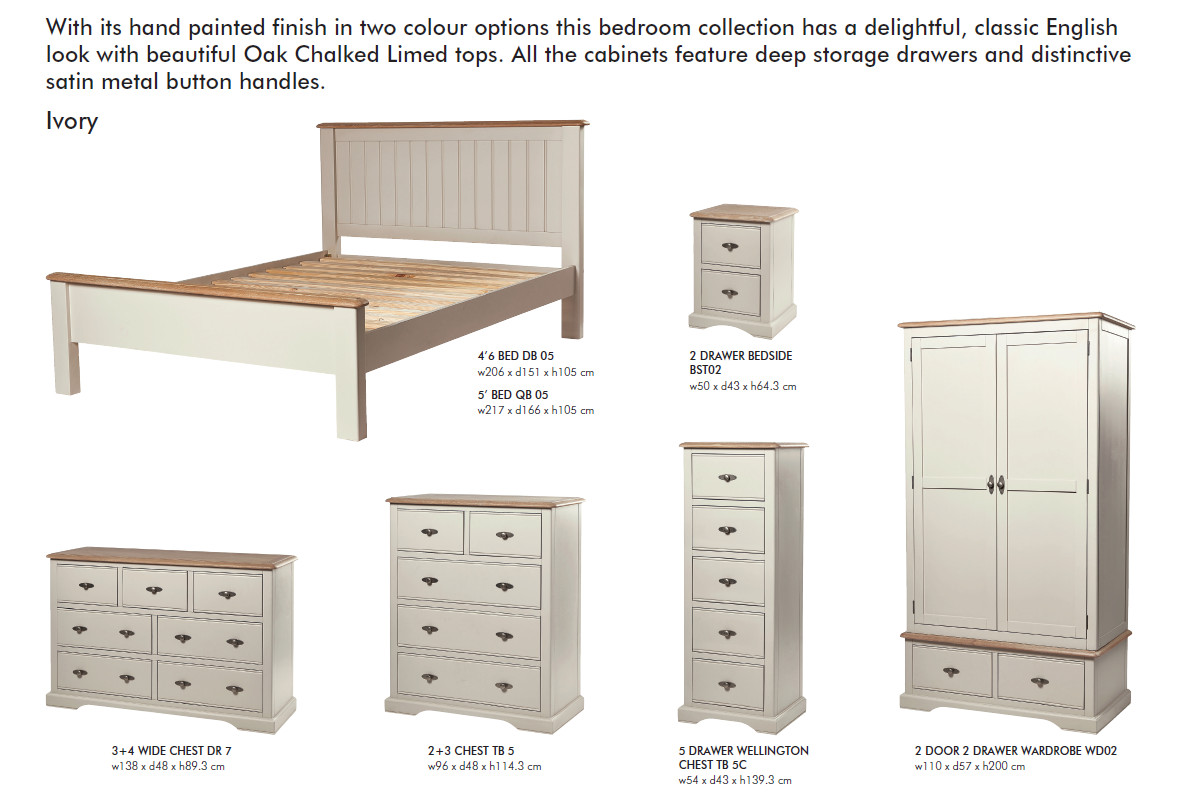 Freya Ivory Bedroom Furniture