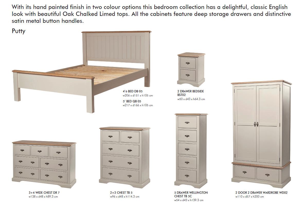 Freya Putty Bedroom Furniture