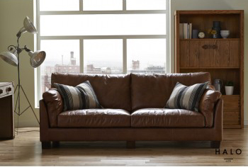 Gable 3 Seater Sofa in Old Saddle Nut