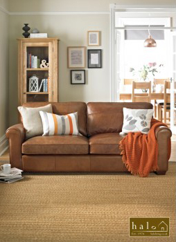 Hudson 3 Seater Sofa in Old Saddle Nut
