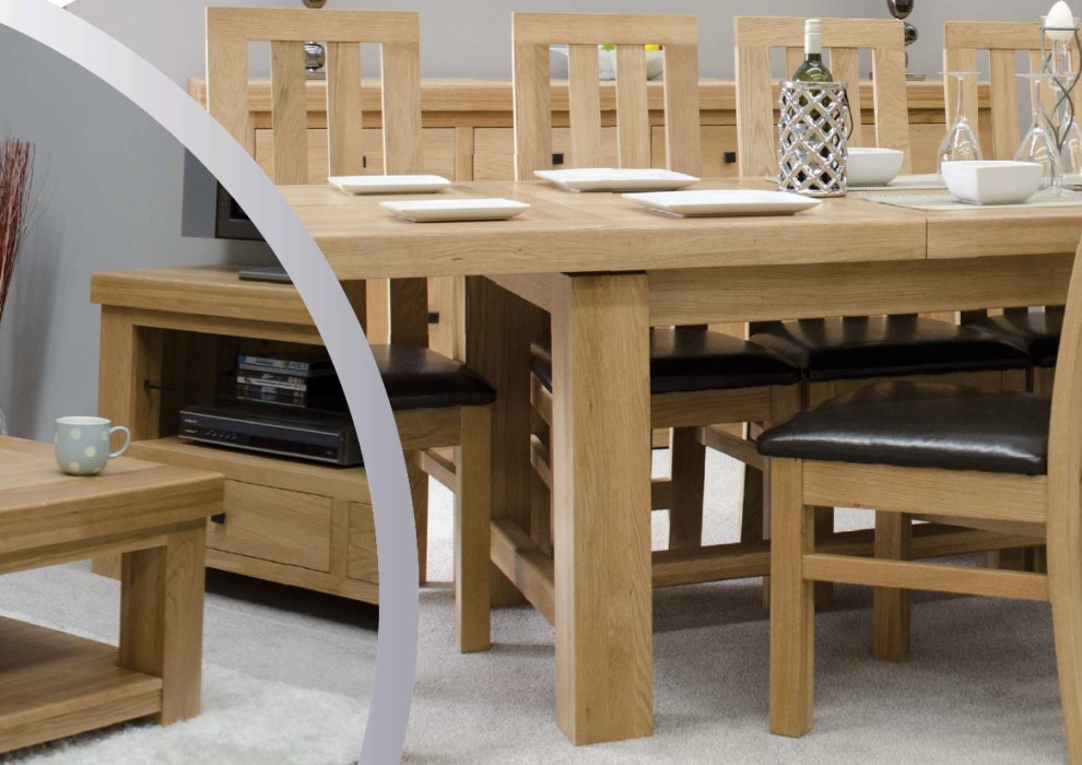 Solid Oak For Solid Living & Dining