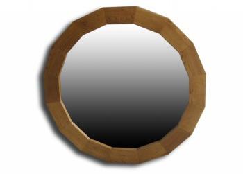 Oak Octagonal Wall Mirror