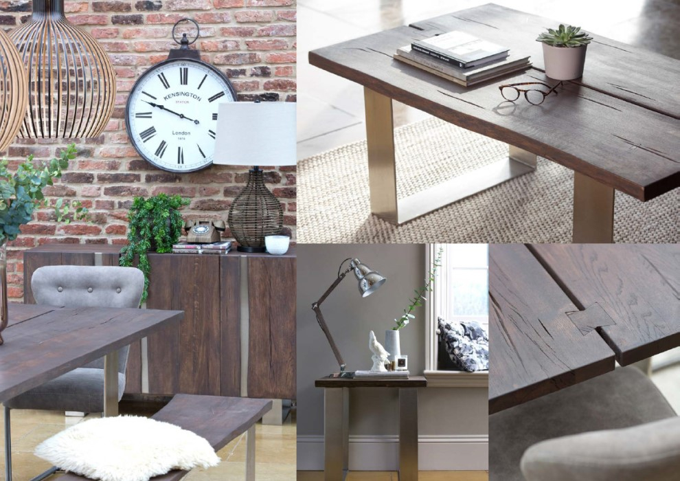 The mix of smoked oak and chrome will bring a fresh modern feel to any dining room. Produced from 100% solid European oak with a stylish smoked finish applied. With 12 different beautiful pieces to choose from you can create your own combination.