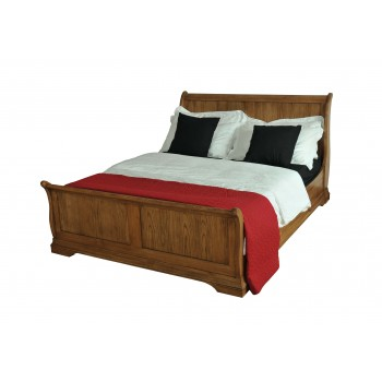 Clermont Oak Sleigh High End Bed