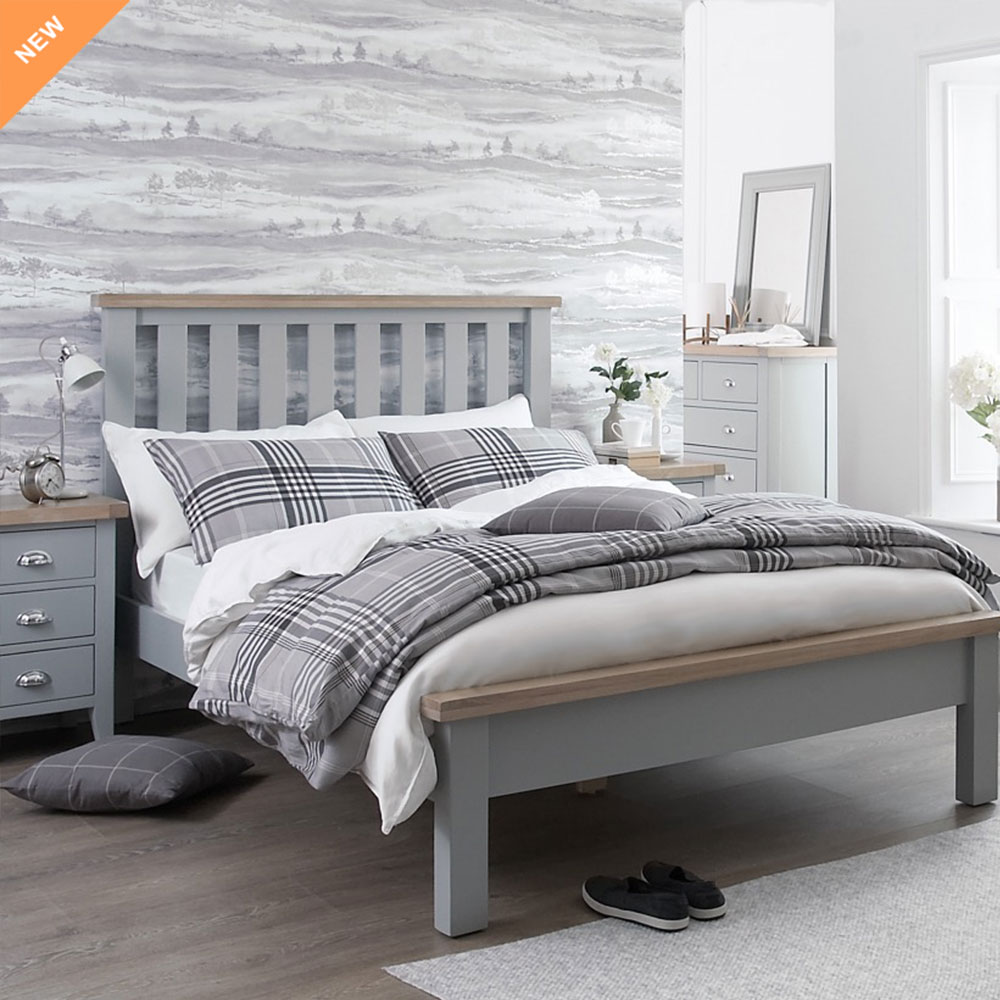 Florence Oak Furniture in Grey Painted