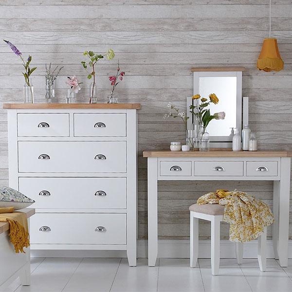 Florence Oak White Bedroom Furniture