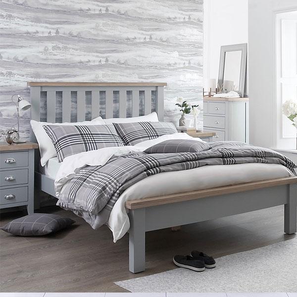 Florence Oak Grey Bedroom Furniture