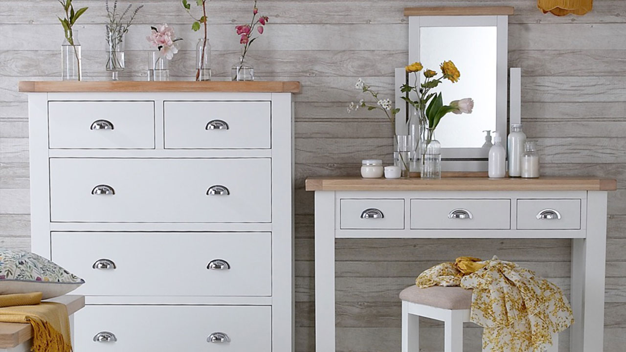 Florence Oak Furniture in White Painted
