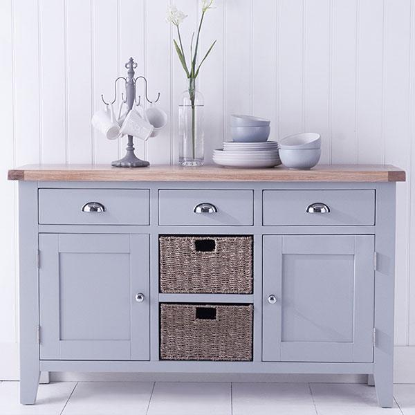 Florence Oak Grey Living Room Furniture