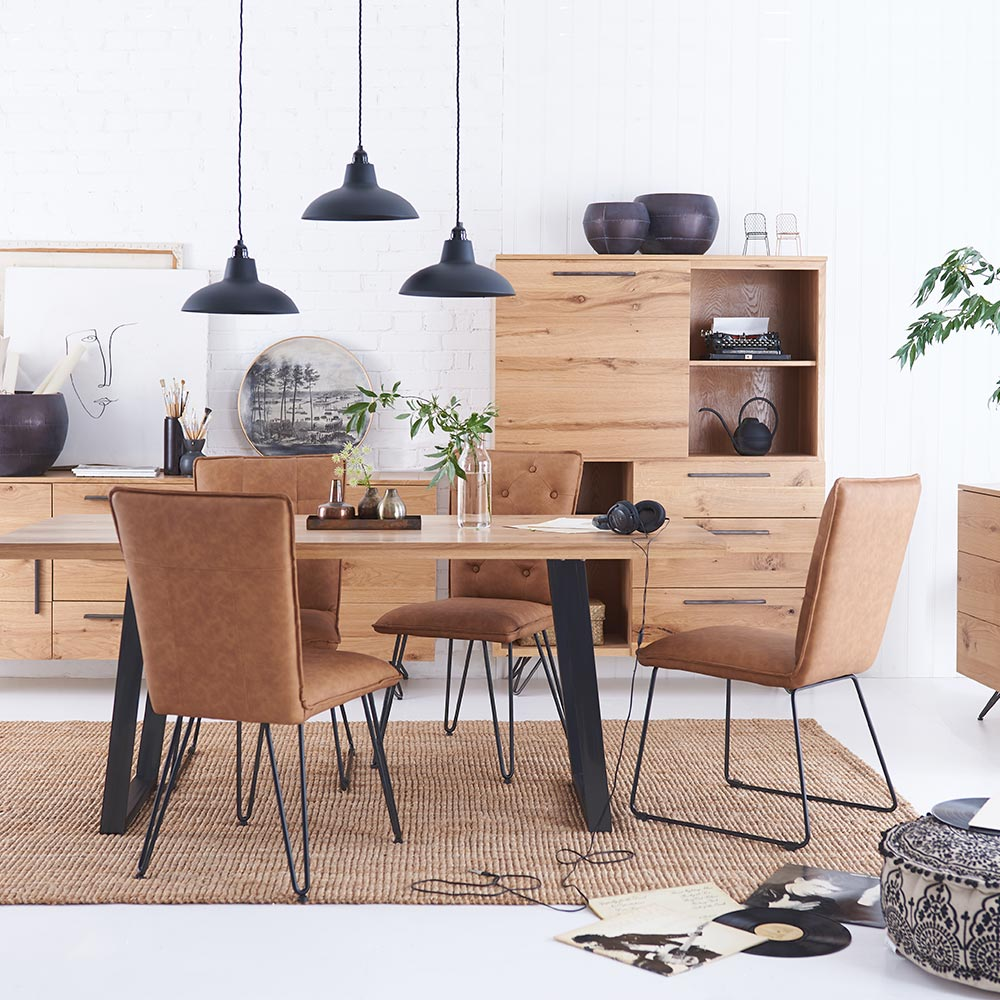 Forged Oak Dining Room Furniture