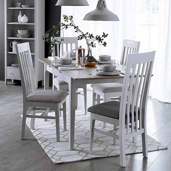 Oslo Oak Dove Grey Dining Room Furniture