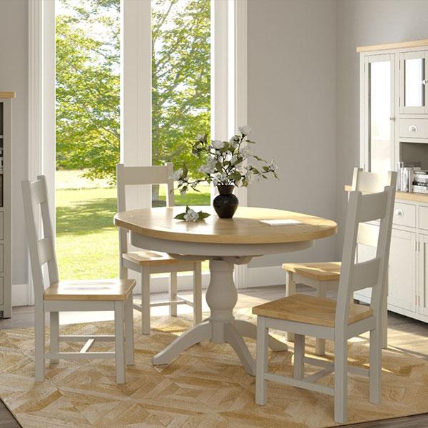 Portman Oak  Stone Grey Dining Room Furniture
