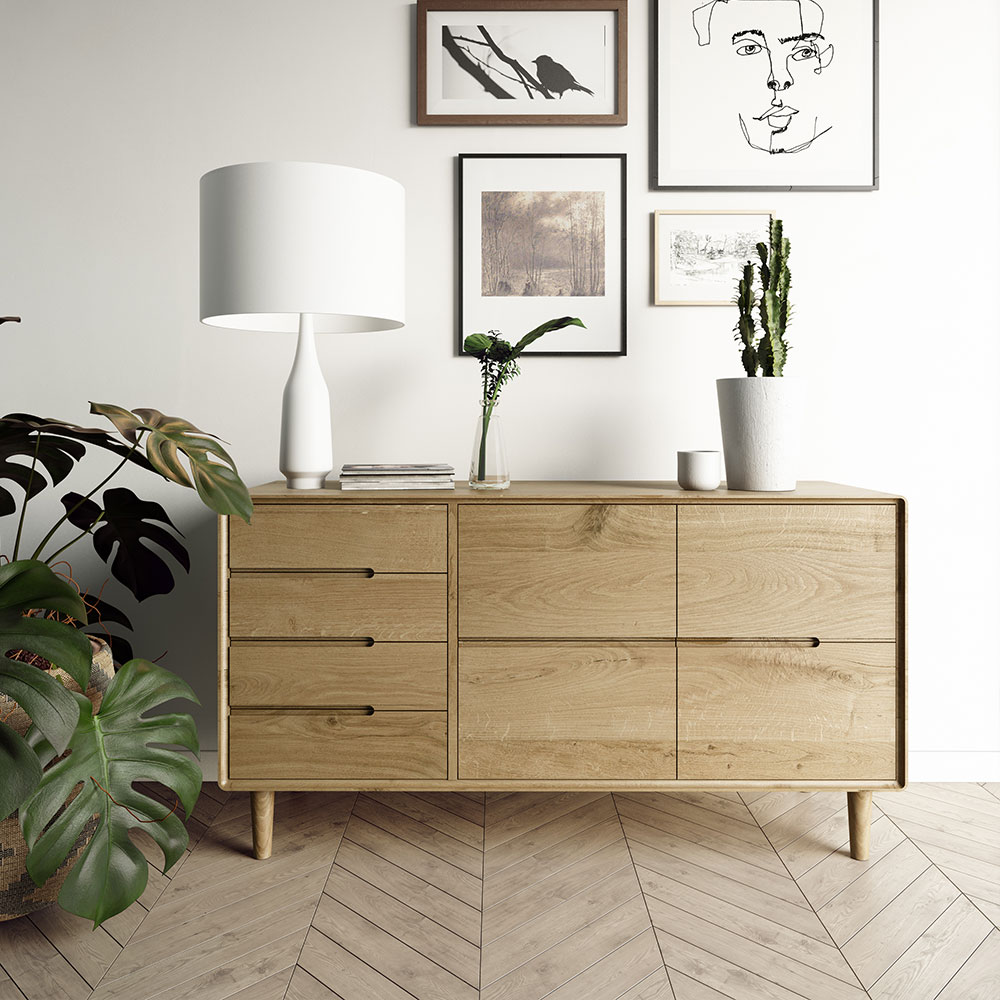 Scandic Oak Dining Room Furniture