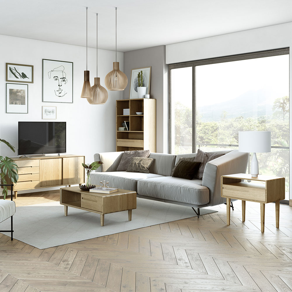 Scandic Oak Living Room Furniture