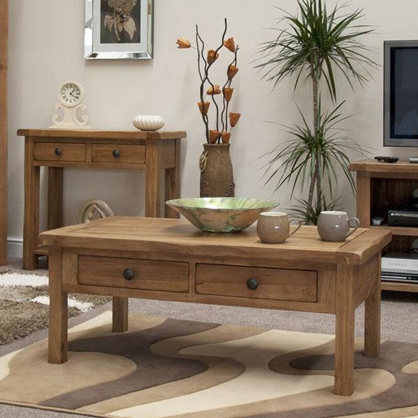 Rustic Oak Solid Oak Living Room Furniture