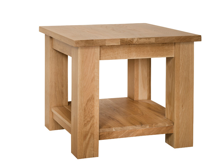 Simply Oak Lamp Table With Shelf