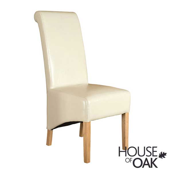 Richmond Ivory Leather Dining Chair