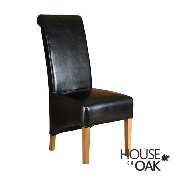 Richmond Black Leather Dining Chair