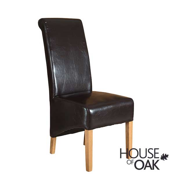 Richmond Brown Leather Dining Chair