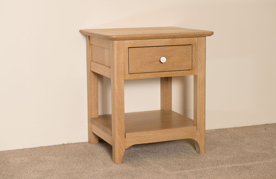 New England 1 Drawer Bedside Table