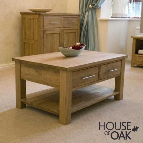 Opus Solid Oak 3FT x 2FT Coffee Table