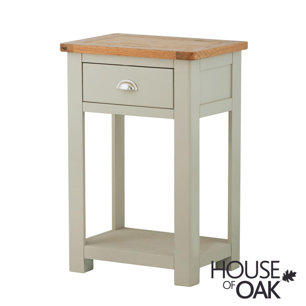 Portman Painted 1 Drawer Console Table in Stone Grey