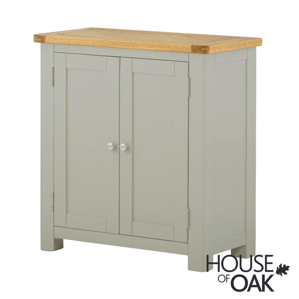 Portman Painted 2 Door Cabinet in Stone Grey