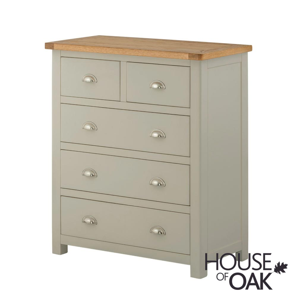 Portman Painted 3+2 Drawer Chest in Stone Grey