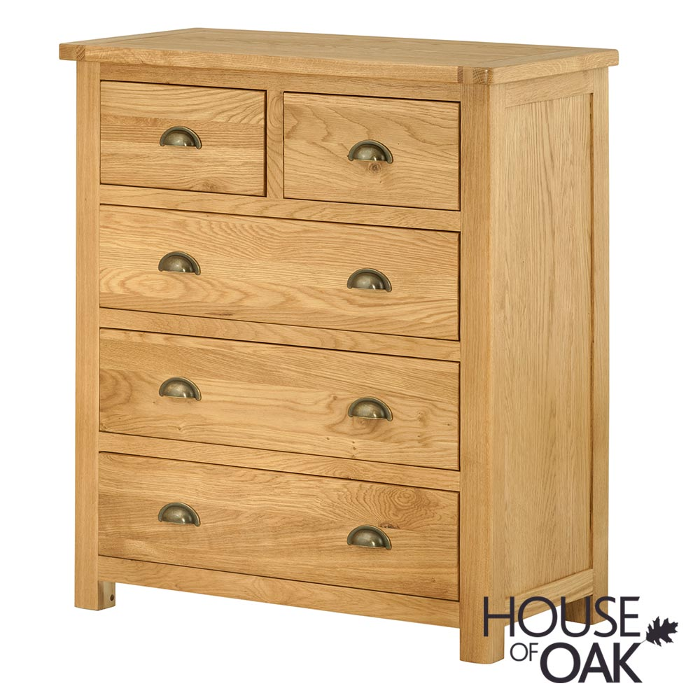 Portman 3+2 Drawer Chest in Oak