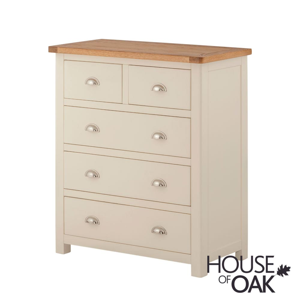 Portman Painted 3+2 Drawer Chest in Cream
