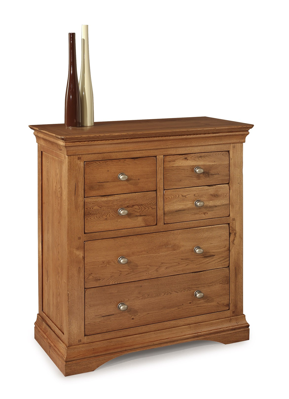 Clermont Oak 4+2 Chest of Drawers