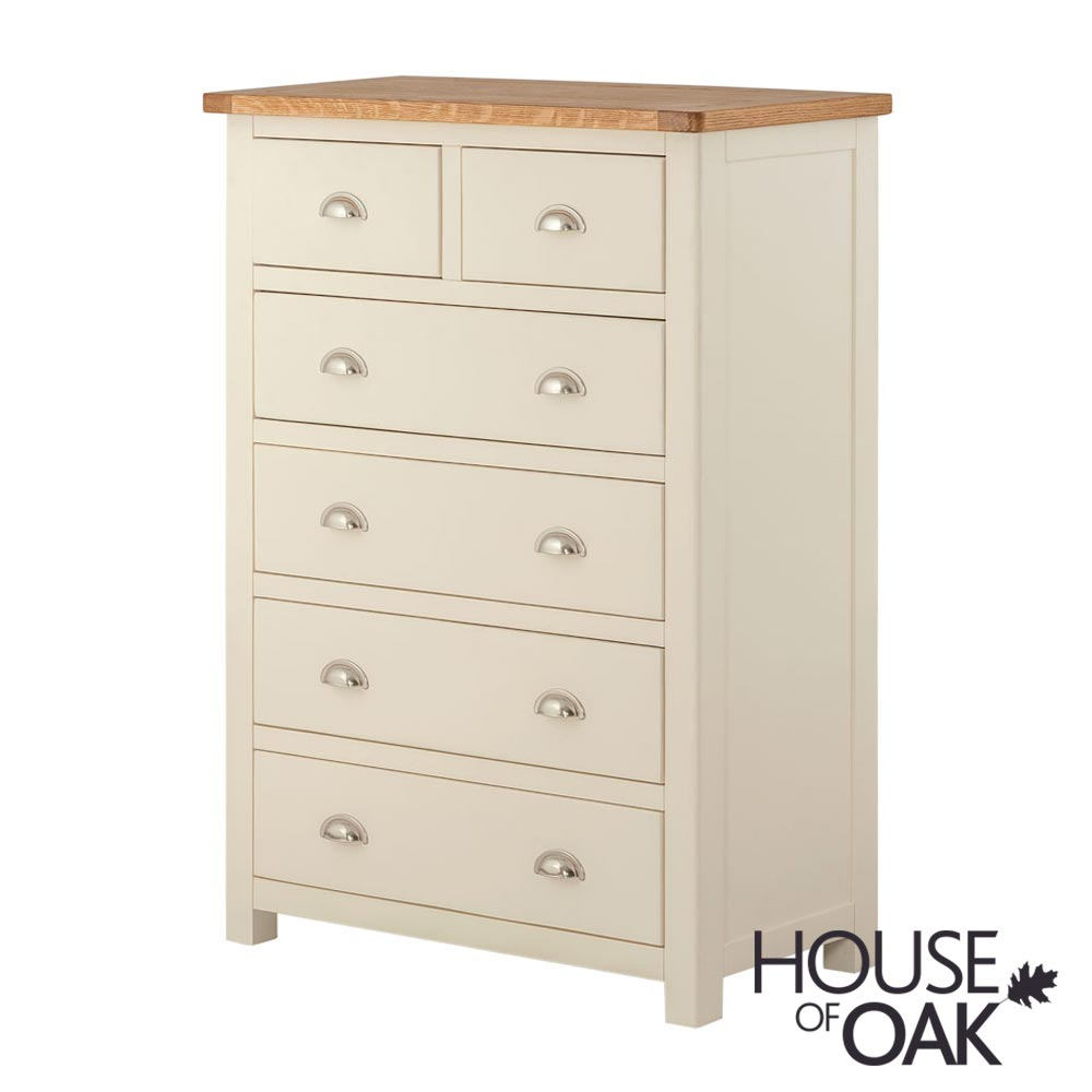 Portman Painted 4+2 Drawer Chest in Cream