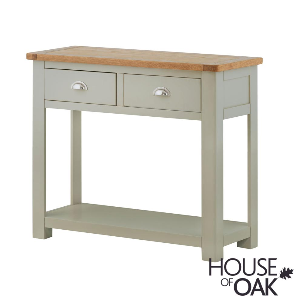 Portman Painted 2 Drawer Console Table in Stone Grey