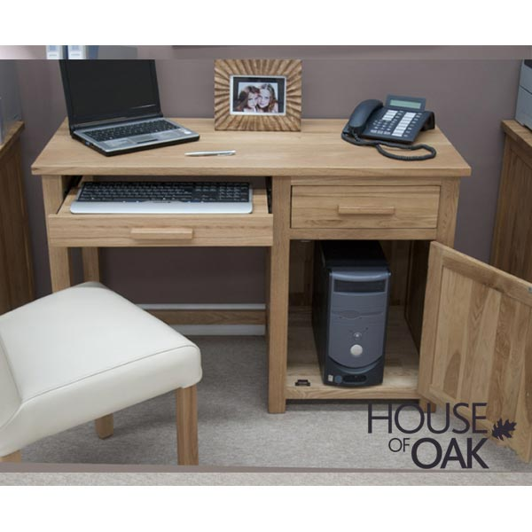 Opus Solid Oak Small Computer Desk