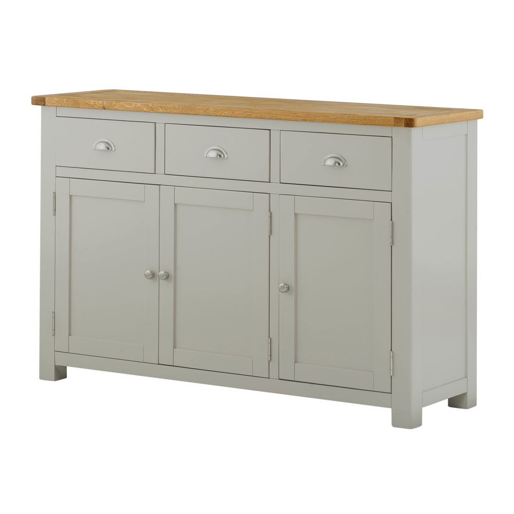 Portman Painted 3 Door 3 Drawer Sideboard in Stone Grey