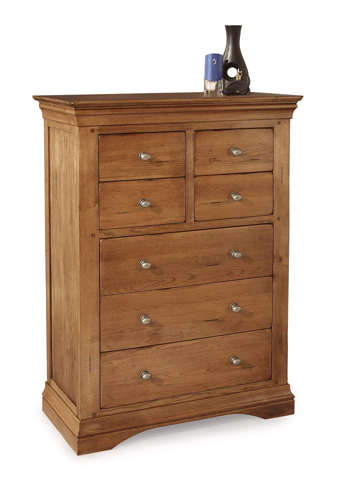 Clermont Oak 4+3 Chest of Drawers