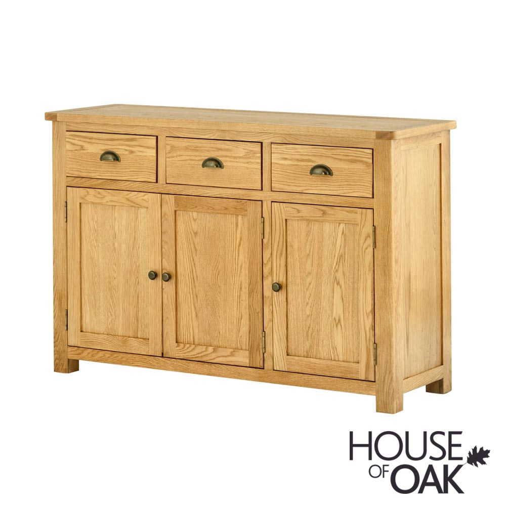 Portman 3 Door 3 Drawer Sideboard in Oak