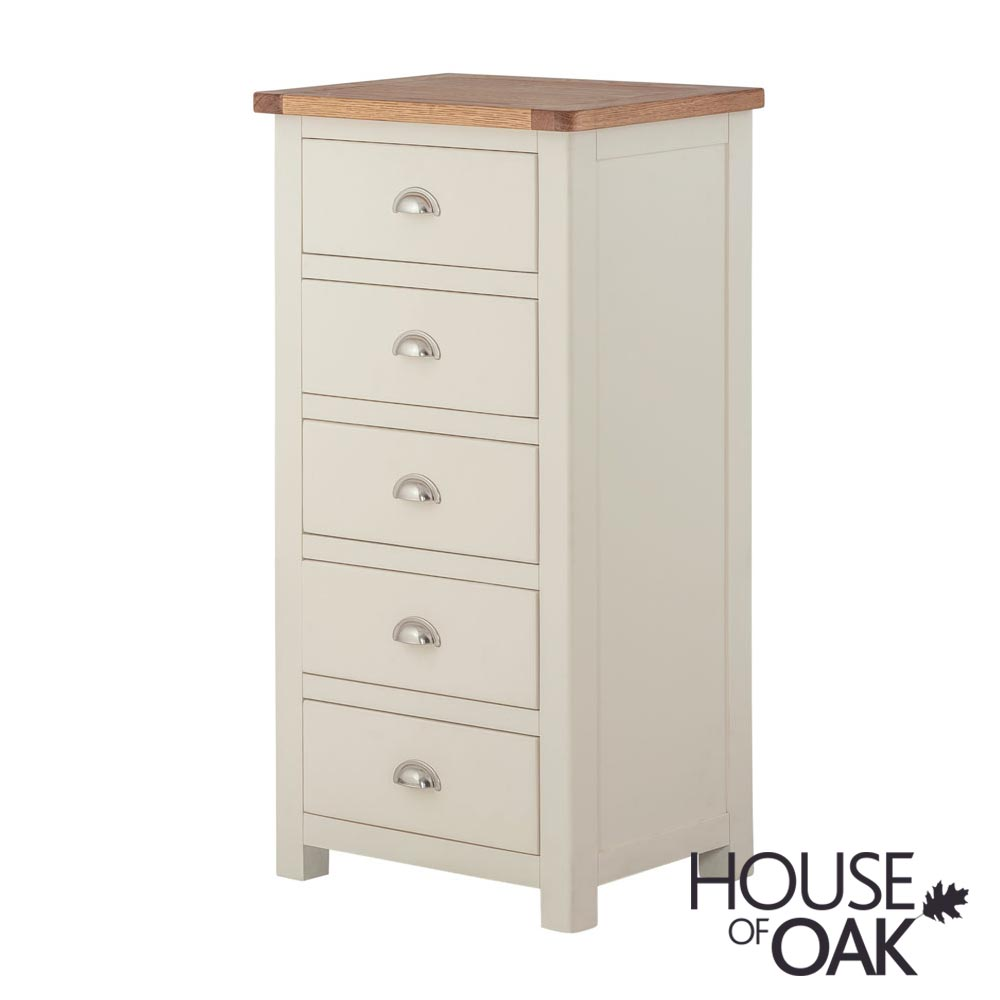 Portman Painted 5 Drawer Slim Jim in Cream