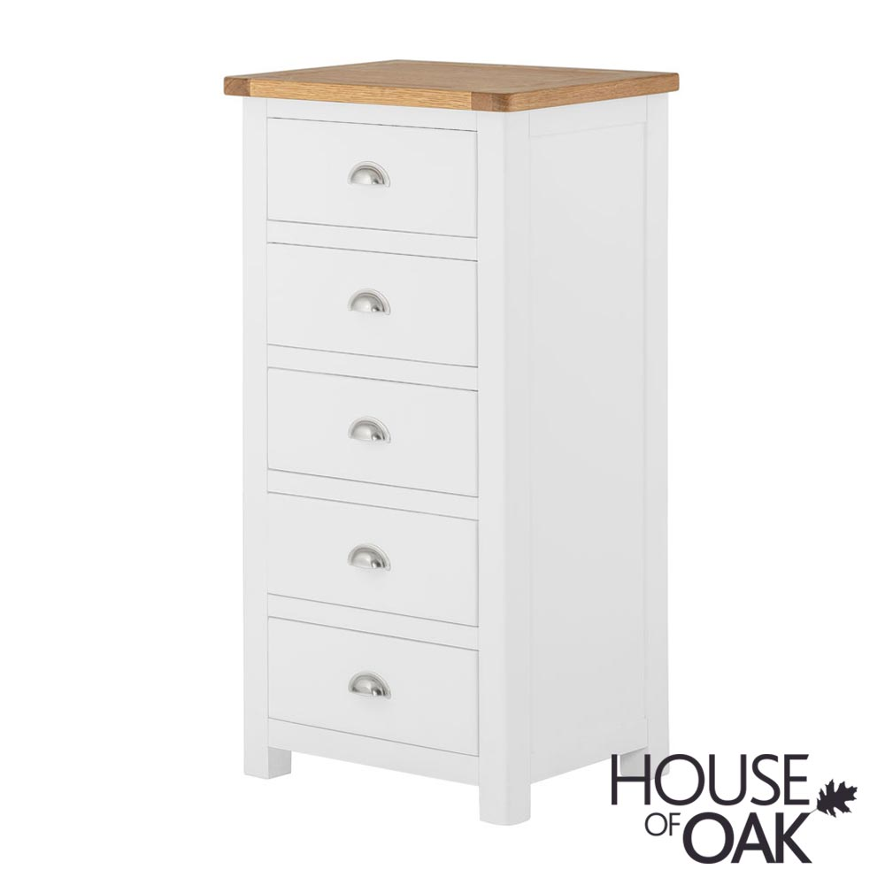 Portman Painted 5 Drawer Slim Jim in White