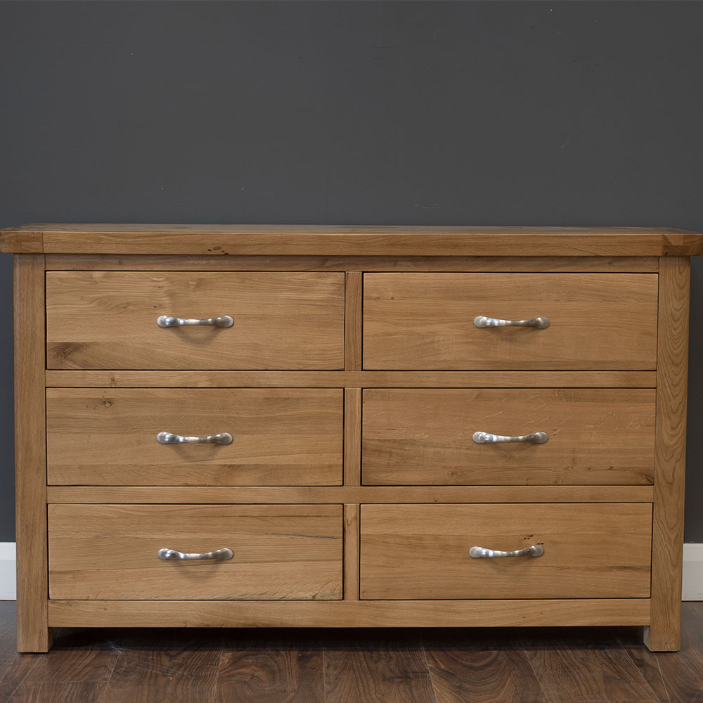 York 6 Drawer Chest in Oak