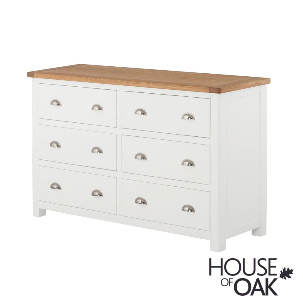 Portman Painted 6 Drawer Wide Chest in White