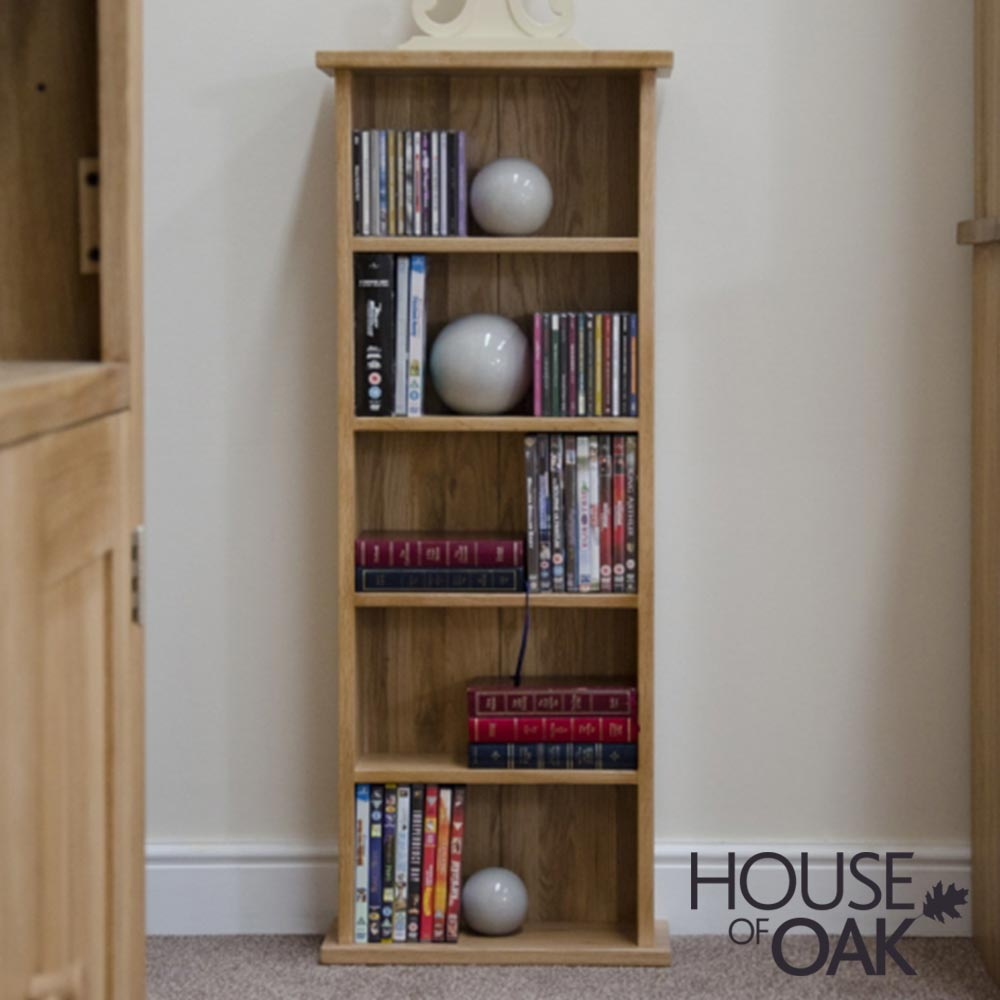Opus Solid Oak CD DVD Tower